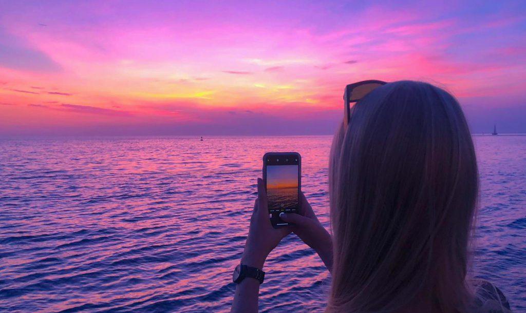 Fotografieren Sonnenuntergang Meer